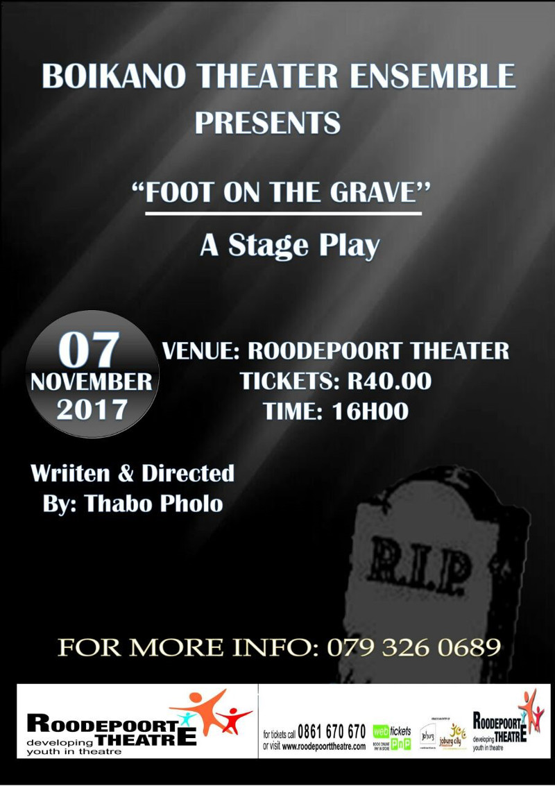 foot on the Grave Poster